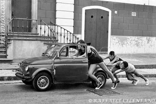 Acrylglasbilder, Leinwandbilder, eigenes Foto auf Leinwand und Acrylglas, Alu-Dibond. Motiv: Fiat 500.